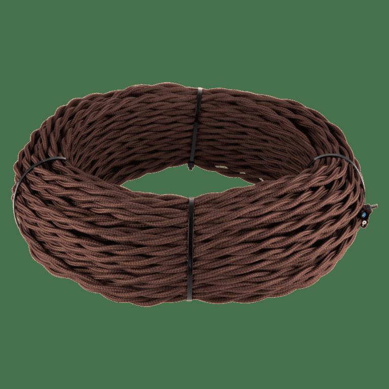 Ретро кабель витой 3х1,5 (коричневый) 20 м (под заказ) W6453214