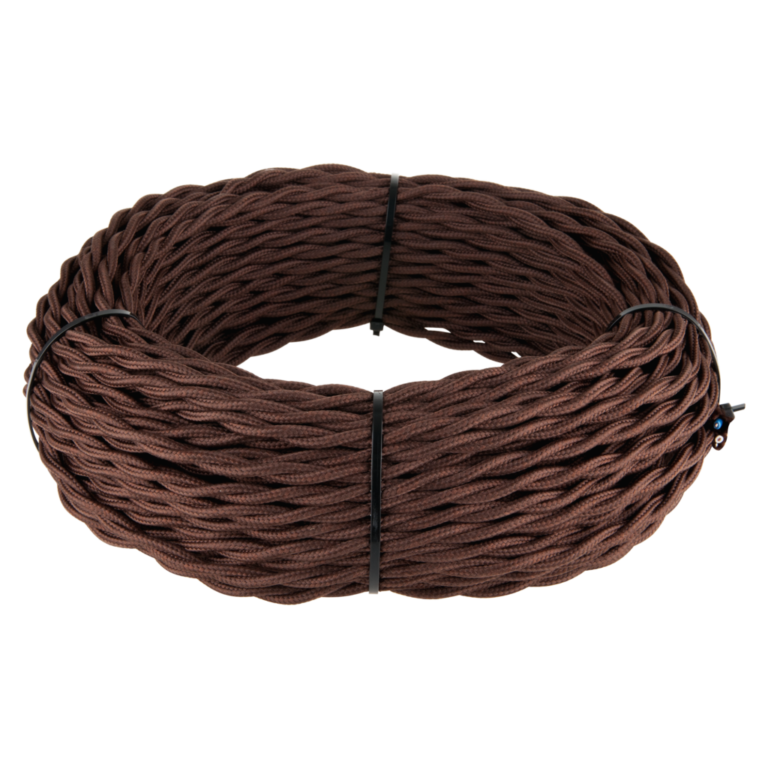 Ретро кабель витой 2х1,5 (коричневый) 20 м (под заказ) W6452214