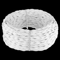 Ретро кабель витой 2х2,5 (белый) 20 м (под заказ) W6452301