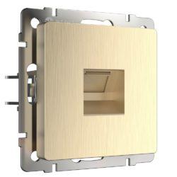 Розетка Ethernet RJ-45 (шампань рифленый) W1181010