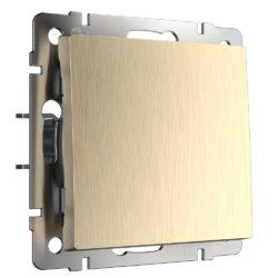 Выключатель одноклавишный (шампань рифленый) W1110010