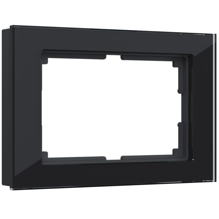Рамка для двойной розетки (черный) W0081108