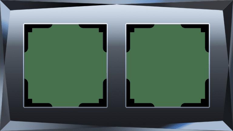 Рамка на 2 поста (черный) W0021208