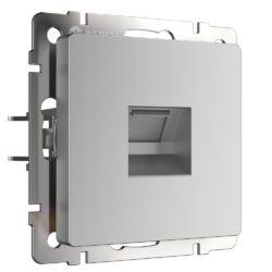 Розетка Ethernet RJ-45 (серебряный) W1181006