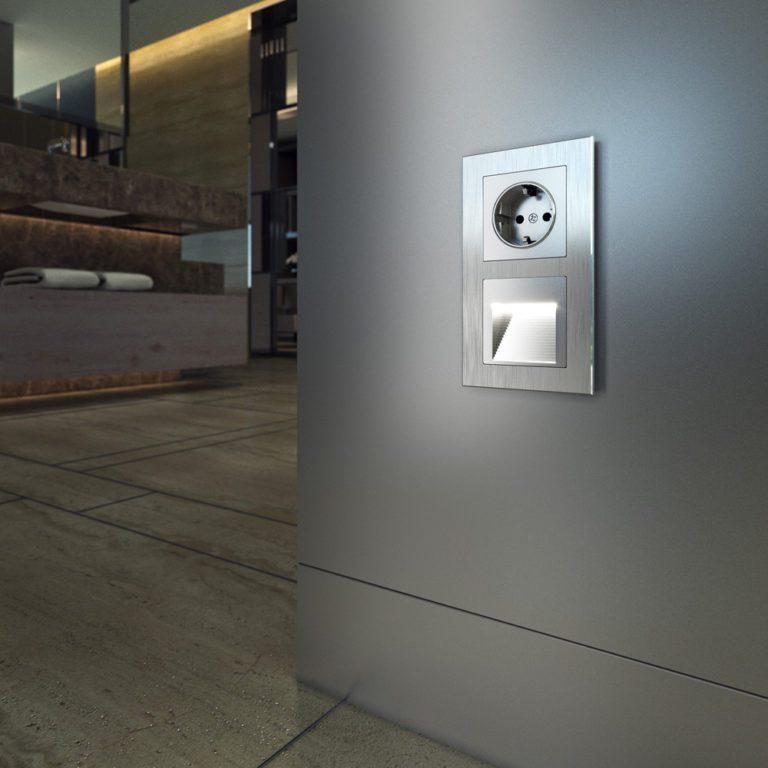 Встраиваемая LED подсветка (серебряный) W1154206