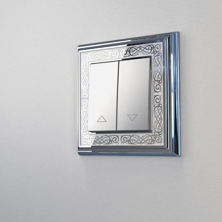 Выключатель жалюзи (серебряный) W1124506