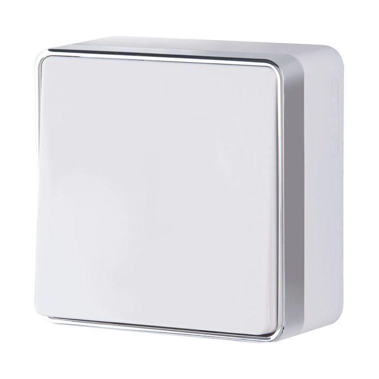 Выключатель одноклавишный проходной Gallant (белый) W5012001