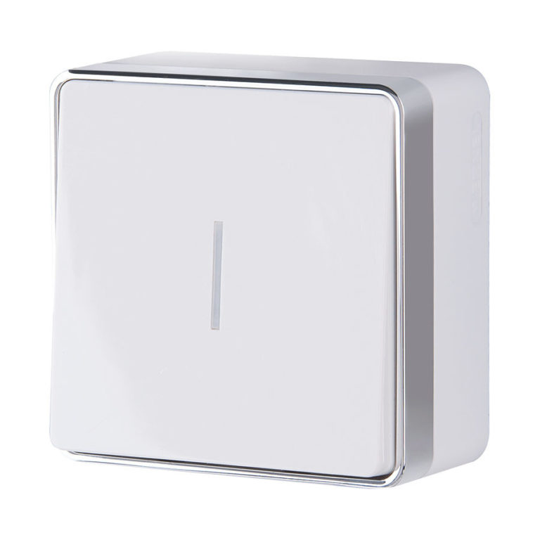 Выключатель одноклавишный с подсветкой Gallant (белый) W5010101