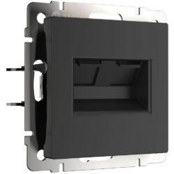 Розетка двойная Ethernet RJ-45 (черный матовый) W1182208
