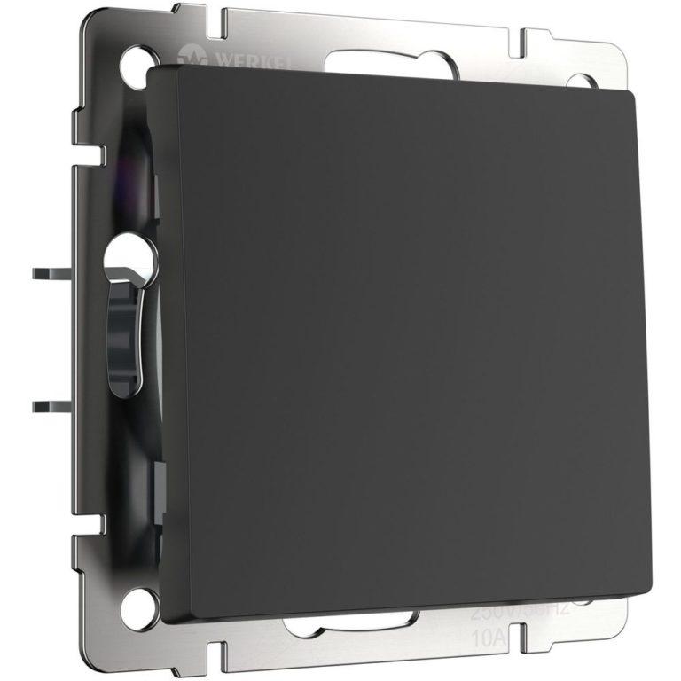 Кнопка звонка (черный матовый) W1114508