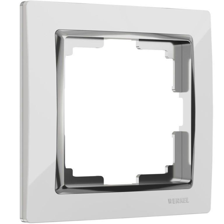 Рамка на 1 пост (белый/хром) W0011901