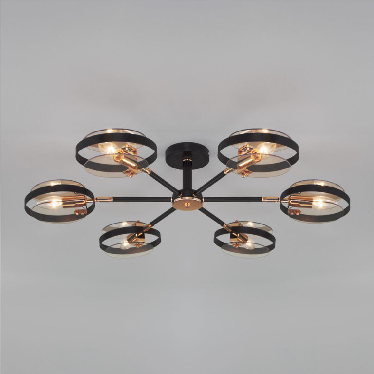 Потолочный светильник в стиле лофт 70121/6 черный