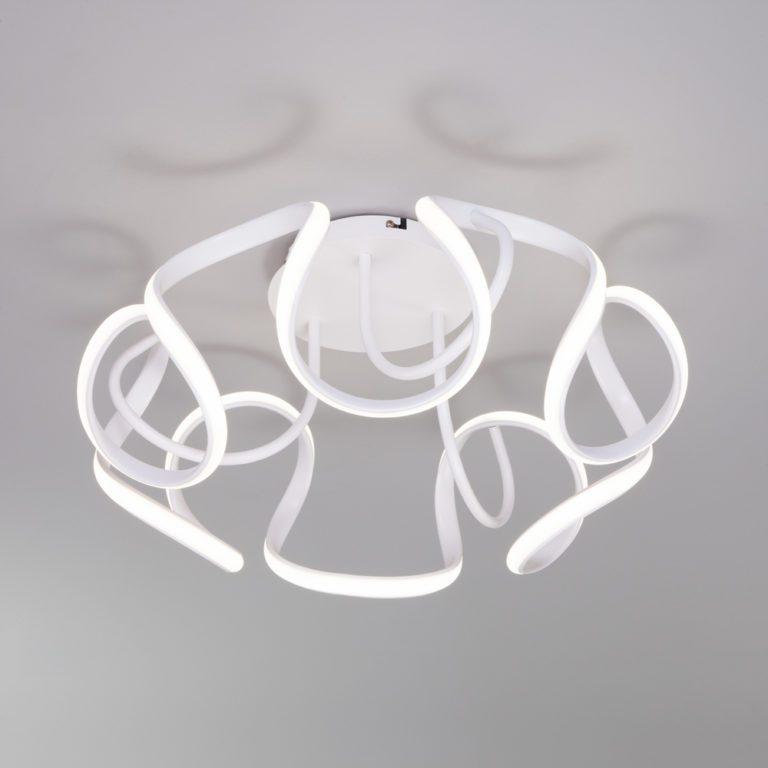 Потолочный светодиодный светильник с пультом управления 90238/1 белый
