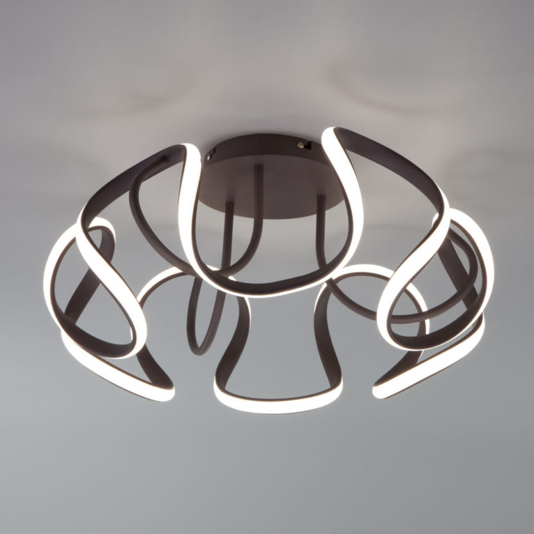 Потолочный светодиодный светильник с пультом управления 90238/1 кофе