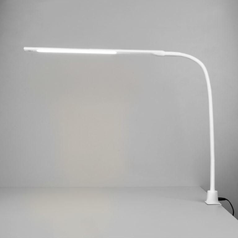Светодиодная настольная лампа на струбцине 80429/1 белый