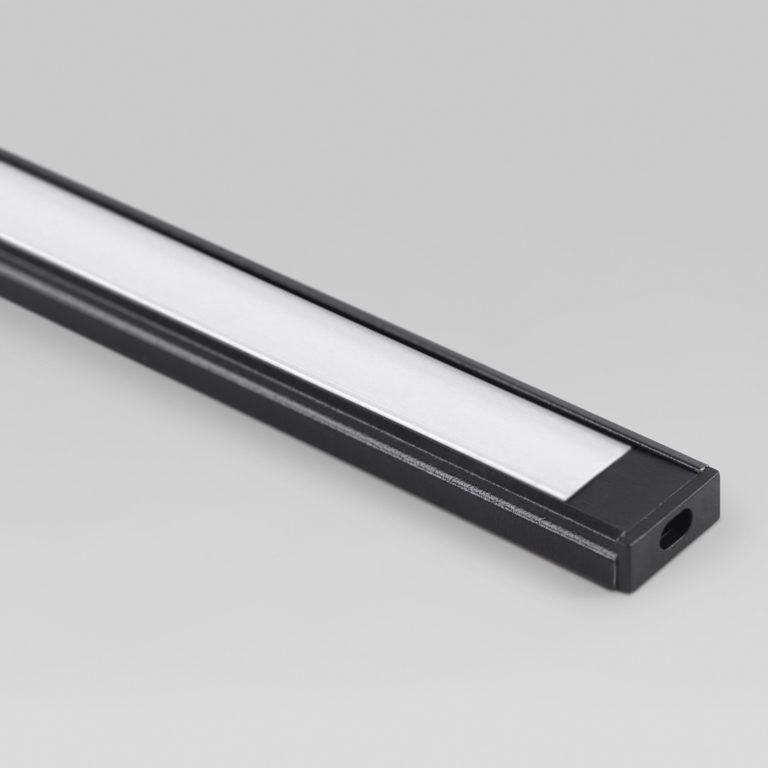 Накладной алюминиевый профиль черный/белый для светодиодной ленты LL-2-ALP006