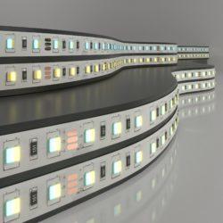 Светодиодная лента Лента светодиодная 24V 10W 60LED 5050 IP20 MIX теплый белый/холодный белый, 5м