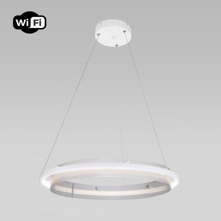 Потолочный светодиодный светильник с управлением по Wi-Fi 90241/1 белый/ серебро Smart