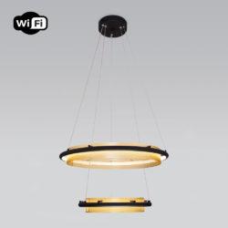 Подвесной светодиодный светильник с управлением по Wi-Fi 90241/2 черный/ золото Smart