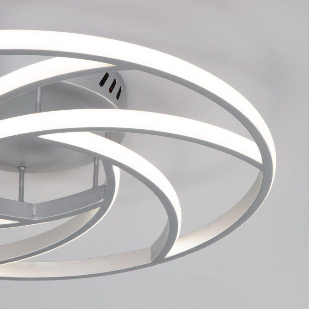 Потолочный светодиодный светильник с пультом управления 90207/1 серебро