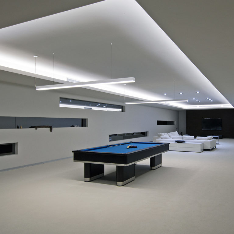 Линейный светодиодный подвесной односторонний светильник 103см 20Вт 3000К матовое серебро 101-200-30-103