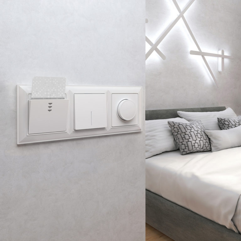Электронный карточный выключатель (белый) WL01-01-03