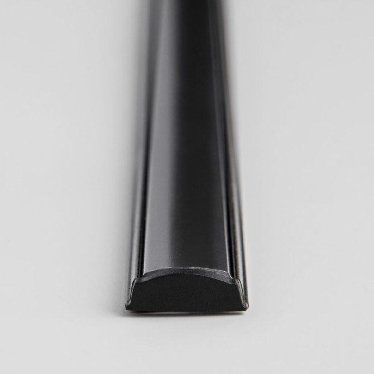 Гибкий алюминиевый профиль черный/черный для светодиодной ленты LL-2-ALP012