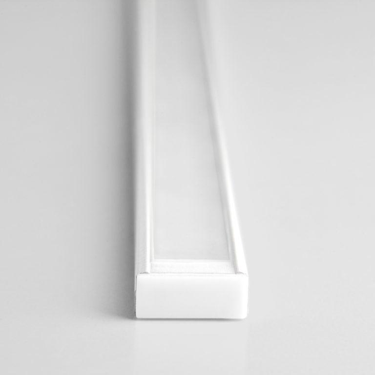 Накладной алюминиевый профиль белый/белый для светодиодной ленты LL-2-ALP006