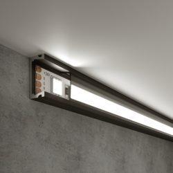 Накладной алюминиевый профиль черный/черный для светодиодной ленты LL-2-ALP006
