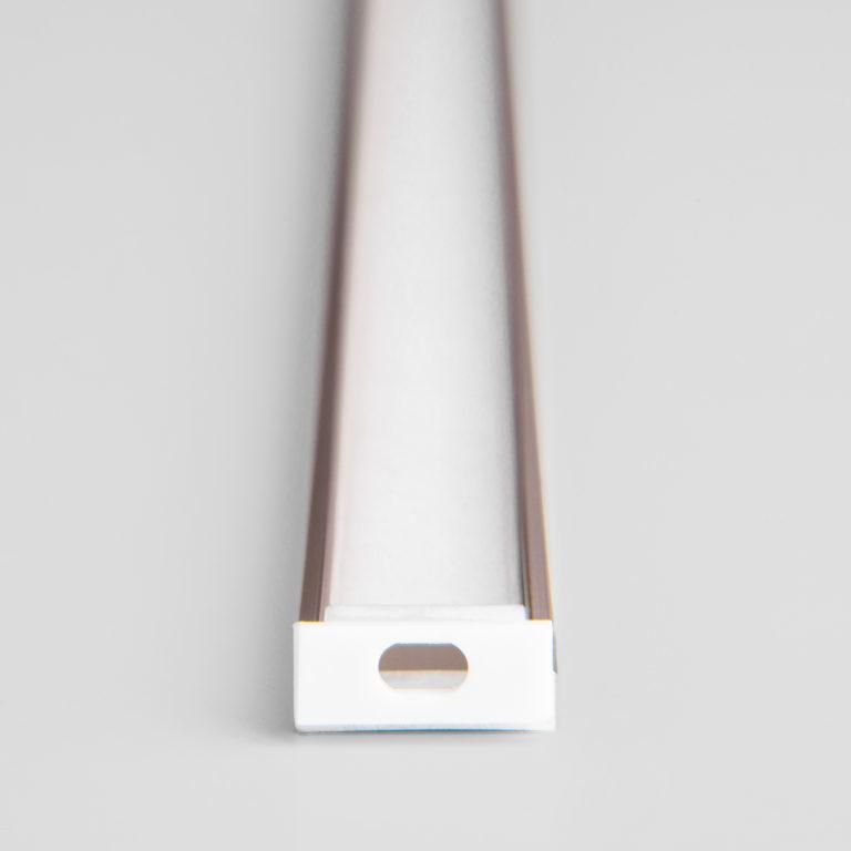 Накладной алюминиевый профиль латунь/белый для светодиодной ленты LL-2-ALP006