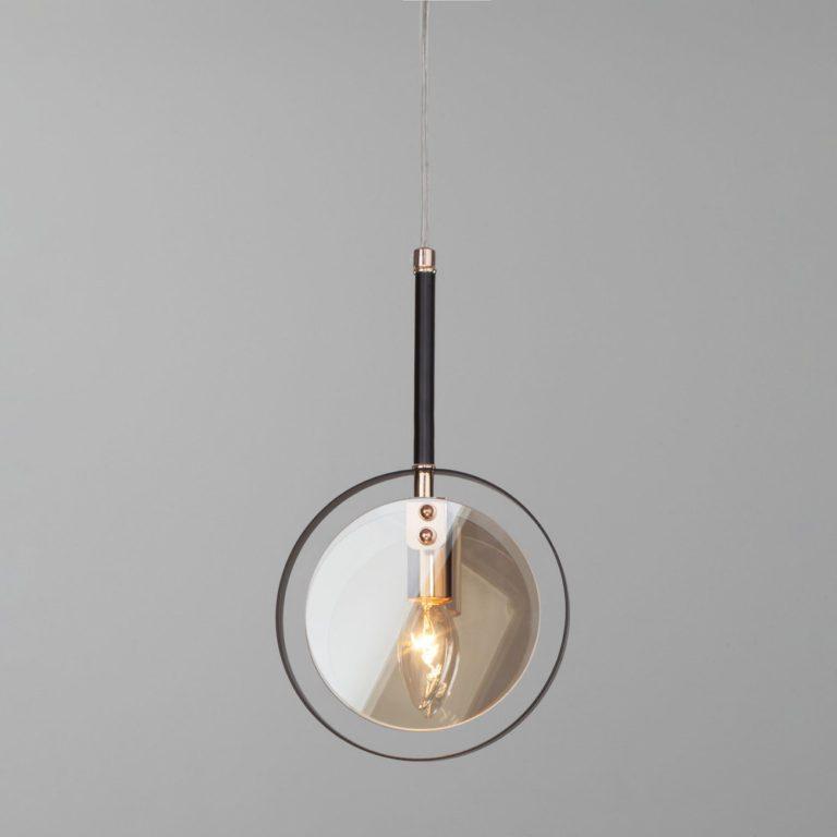 Подвесной светильник со стеклянным плафоном 50121/1 черный