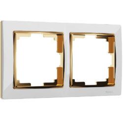Рамка на 2 поста (белый/золото) W0021933