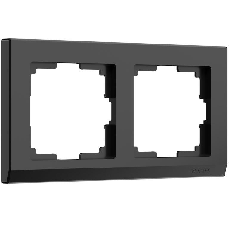 Рамка на 2 поста (черный) W0021808