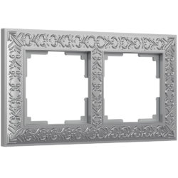 Рамка на 2 поста (матовый хром) WL07-Frame-02