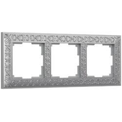 Рамка на 3 поста (матовый хром) WL07-Frame-03
