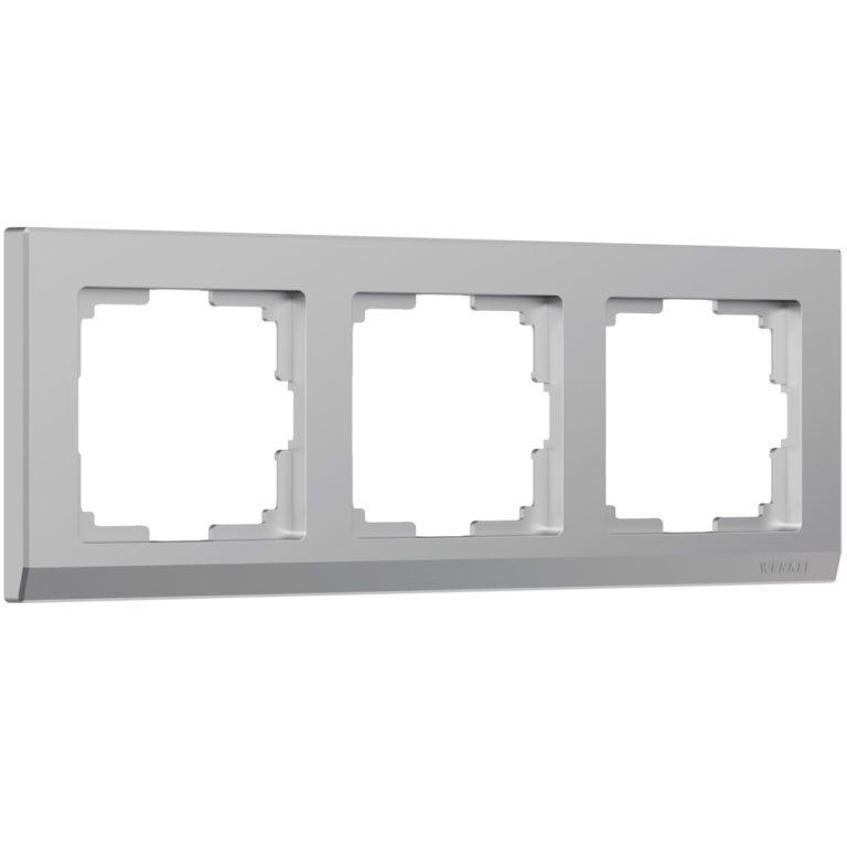 Рамка на 3 поста (серебряный) W0031806