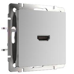 Розетка HDMI (серебряный) WL06-60-11