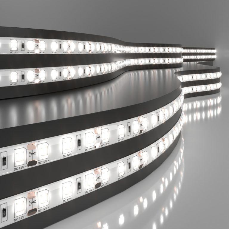 Светодиодная лента Лента светодиодная 12V 9,6W 120Led 2835 IP65 дневной белый, 5м