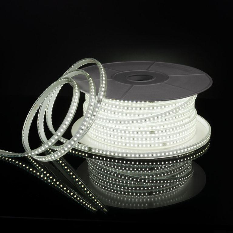 Светодиодная лента Лента светодиодная 220V 14,4W 120Led 2835 IP65 6500 холодный белый, 50 м