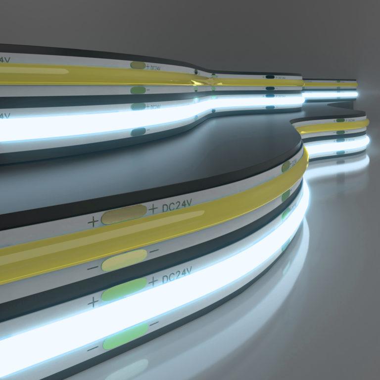 Светодиодная лента Лента светодиодная 24V 11W 352Led COB IP20 холодный белый, 5м