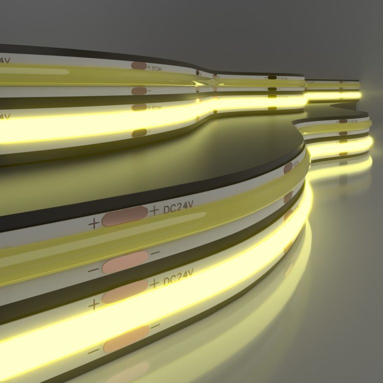 Светодиодная лента Лента светодиодная 24V 11W 352Led COB IP20 теплый белый, 5м