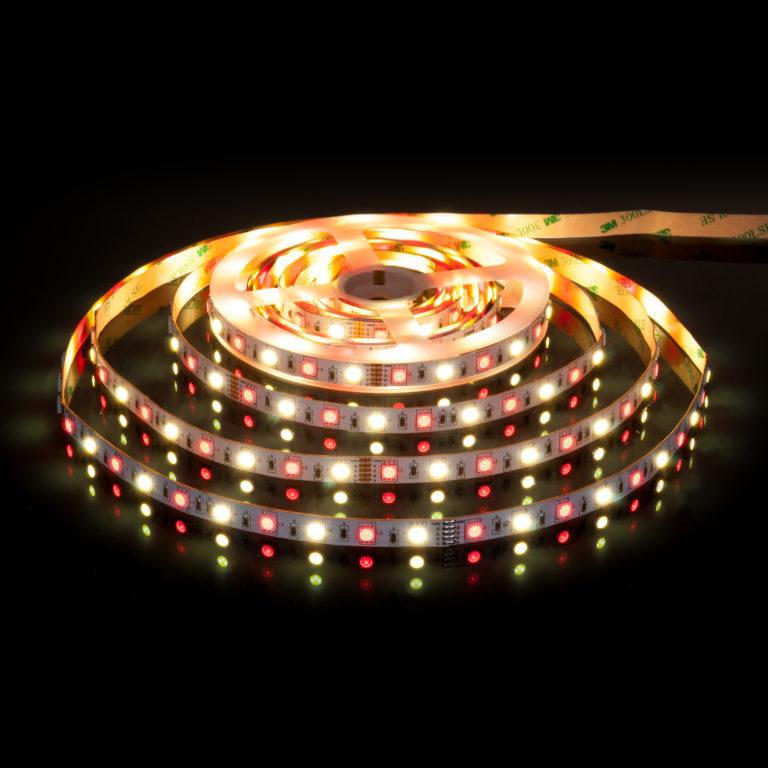 Светодиодная лента Лента светодиодная 24V 14,4W 60Led 5050+5050 IP20 MIX RGB/дневной белый, 5м