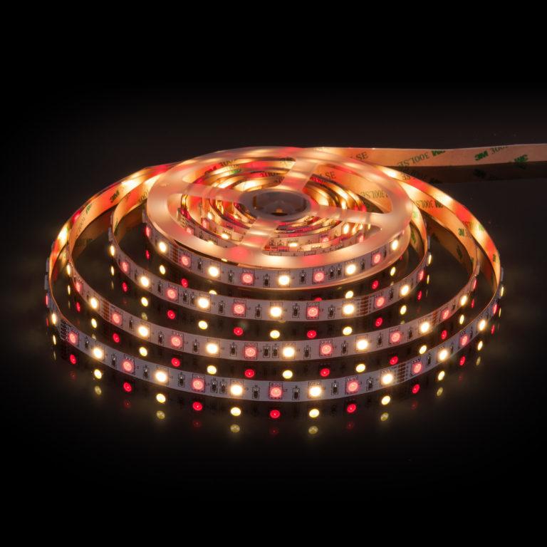 Светодиодная лента Лента светодиодная 24V 14,4W 60Led 5050+5050 IP20 MIX RGB/теплый белый, 5м