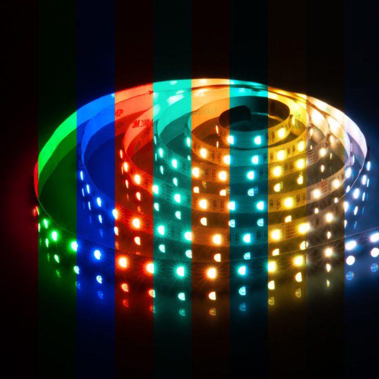 Светодиодная лента Лента светодиодная 24V 24W 60Led 5050 IP20 MIX RGB/дневной белый, 5м