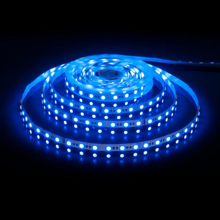 Светодиодная лента Лента светодиодная 24V 24W 60Led 5050 IP20 MIX RGB/холодный белый, 5м