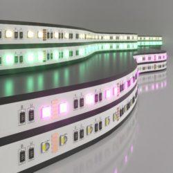 Светодиодная лента Лента светодиодная 24V 24W 60Led 5050 IP20 MIX RGB/теплый белый, 5м