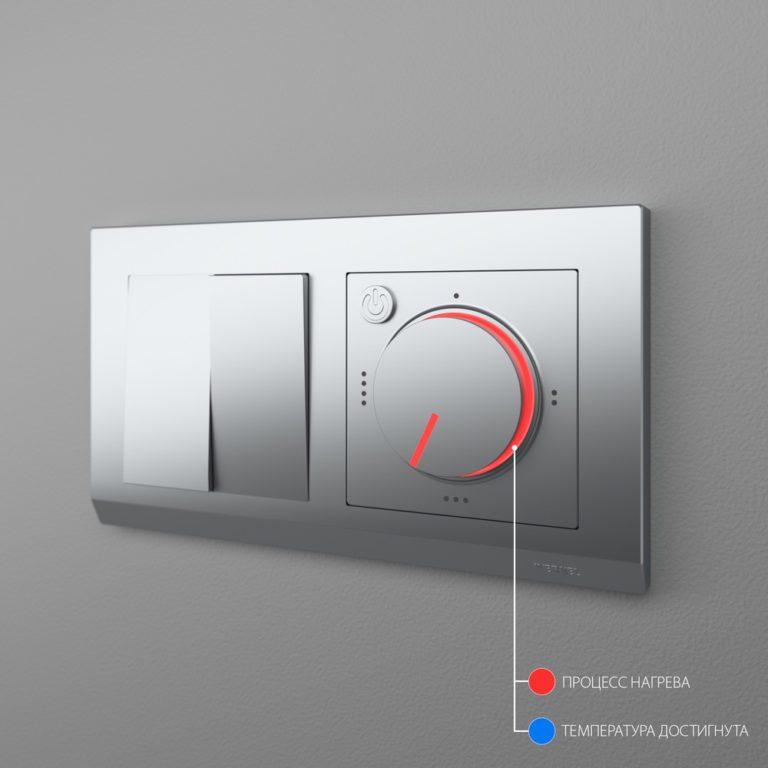 Терморегулятор электромеханический для теплого пола (серебряный) W1151106