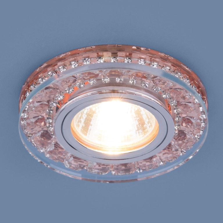 Точечный светодиодный светильник 2192 MR16 GD шампань