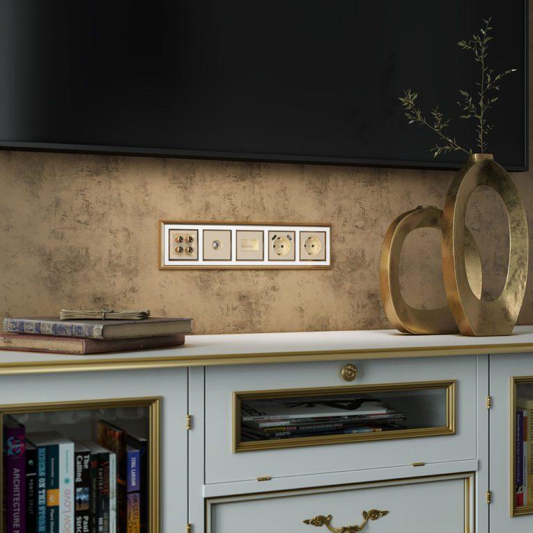 ТВ-розетка оконечная (шампань) W1183011