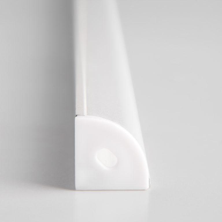 Угловой алюминиевый профиль белый/белый для светодиодной ленты LL-2-ALP008